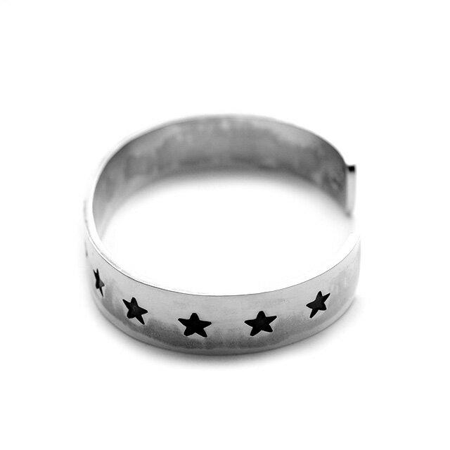 網路獨家【EDF】Stamp star 星星印花純銀手環 (BG-001) 4