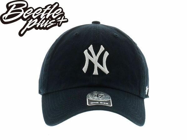BEETLE 47 BRAND 老帽 紐約 洋基 NEW YORK YANKEES DAD HAT 大聯盟 MLB 深藍白 0