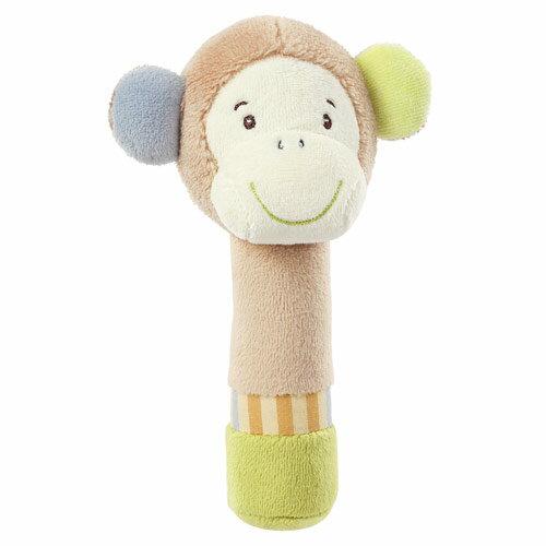 德國【BabyFEHN】叢林夥伴棒型小猴布偶手搖鈴 0