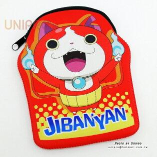 【UNIPRO】日貨 妖怪手錶 吉胖喵 JIBANYAN 任天堂 3DSLL 遊樂器 保護套 收納包 收納袋 拉鍊包 防撞包 地縛貓