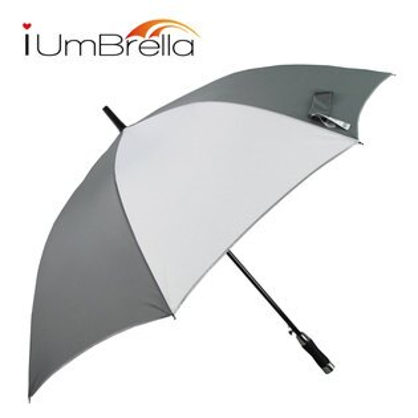 【iumbrella】Model款簡約素布高爾夫傘-灰白