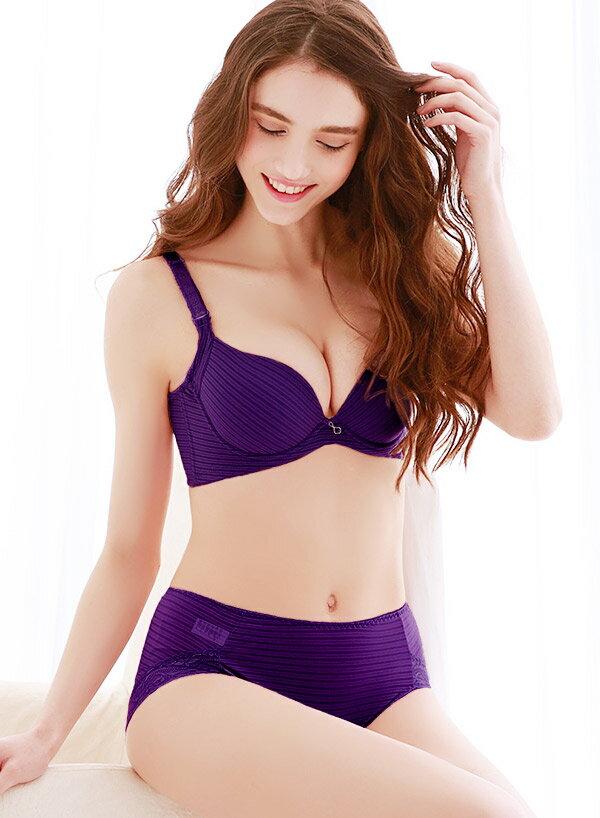 【依夢】時尚無痕系列BCDE罩杯內衣(葡萄紫) 2