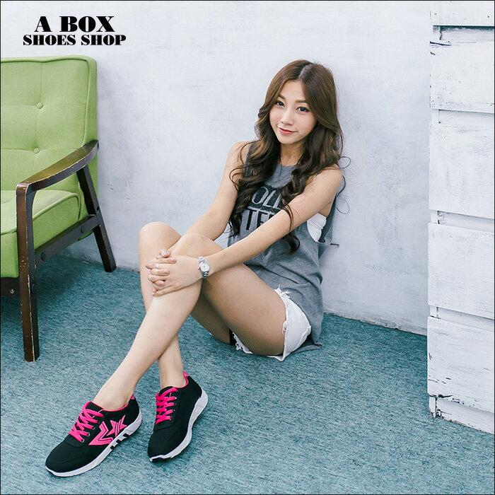 格子舖*【ASB-5】個性時尚韓版布面撞色 星星圖案 綁帶運動休閒鞋 帆布鞋 2色 2