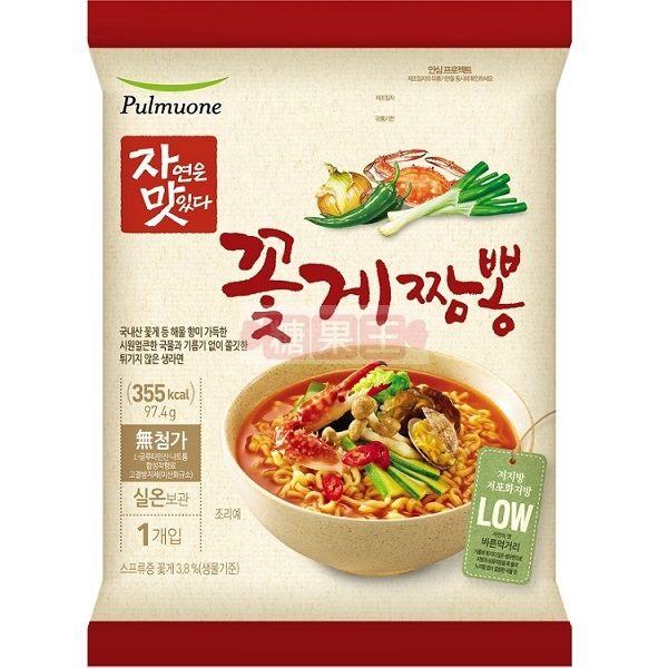 韓國泡麵 Pulmuone 花蟹炒碼麵 低卡蒸煮麵
