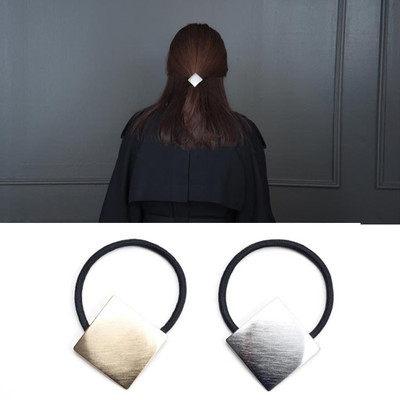 PS Mall 韓版髮飾頭飾飾品簡約金屬四方方形簡單髮圈髮繩 【G2080】