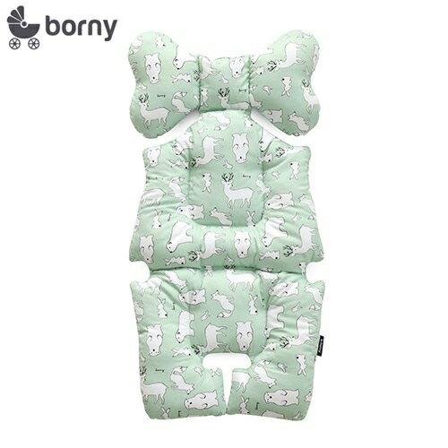 韓國【Borny】全身包覆墊(推車、汽座、搖椅適用) (綠熊鹿) - 限時優惠好康折扣