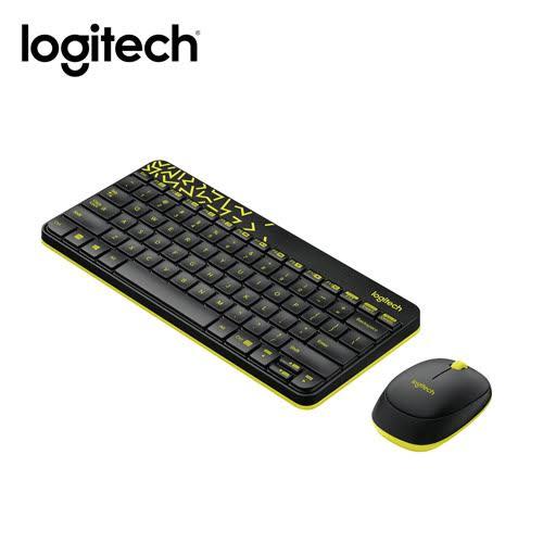 羅技 Logitech MK240 Nano 無線鍵盤滑鼠組~黑黃