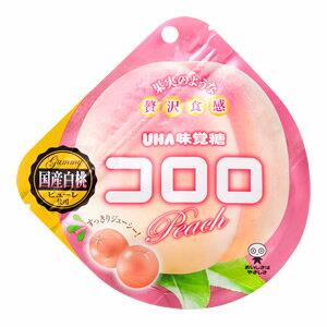 【新品速報】UHA味覺糖100%果汁白桃軟糖  40g