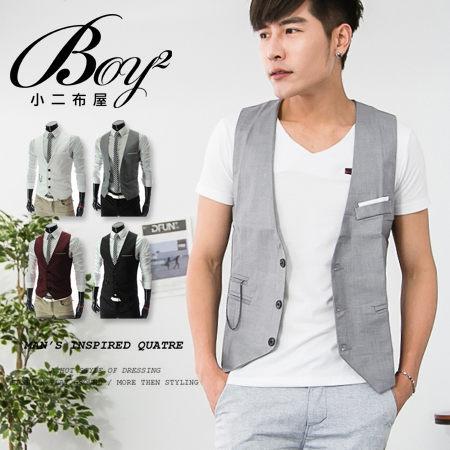 ☆BOY-2☆【NQ98071】紳士修身西裝背心 0