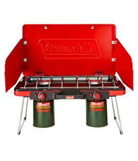 【露營趣】中和 附卡式瓦斯轉接頭 Coleman CM-21950 瓦斯雙口爐 瓦斯爐 雙口爐 卡式瓦斯爐