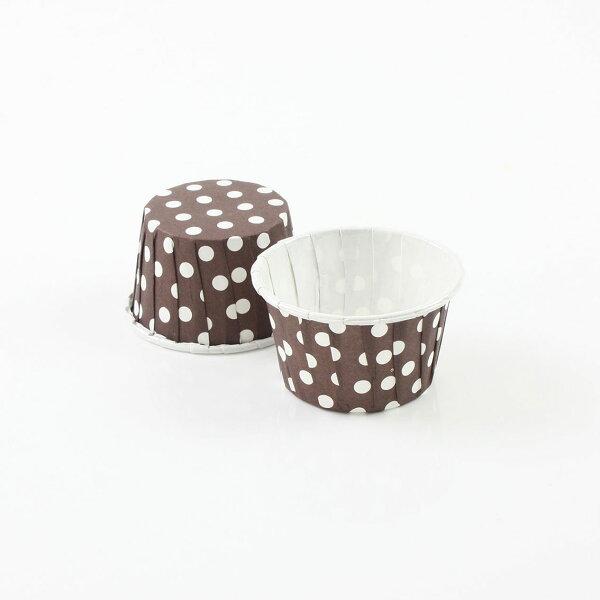 瑪芬杯、杯子蛋糕、捲口杯 PET3830-04 圓點咖啡(100pcs/包)
