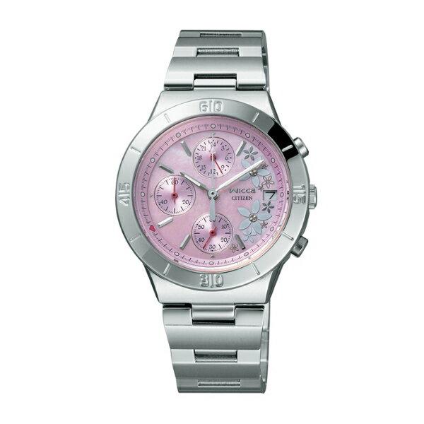 CITIZEN星辰WICCA(FA1008-54Y)粉茉莉時尚腕錶/粉紅面32mm