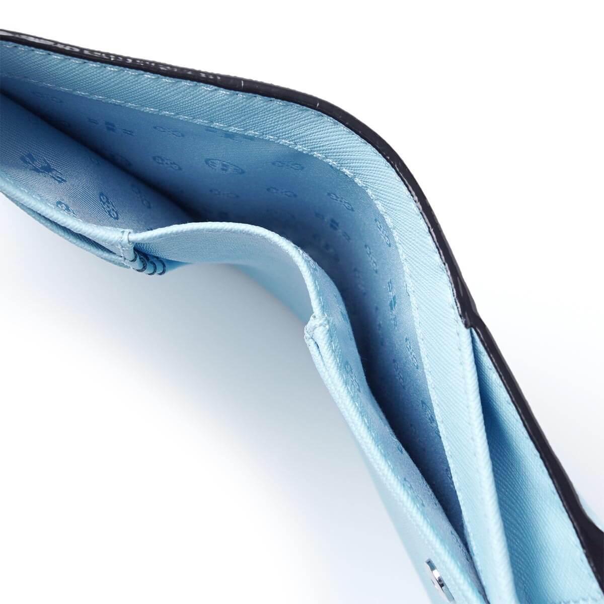 【Tory Burch】防刮簡約設計大容量中夾(黑/粉/藍) 2