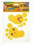地板防滑貼片(5入)黃腳丫 德德 浴室 螢光 防滑貼片 防滑片 止滑帶 非3M 保護 老人 小孩 孕婦 安全