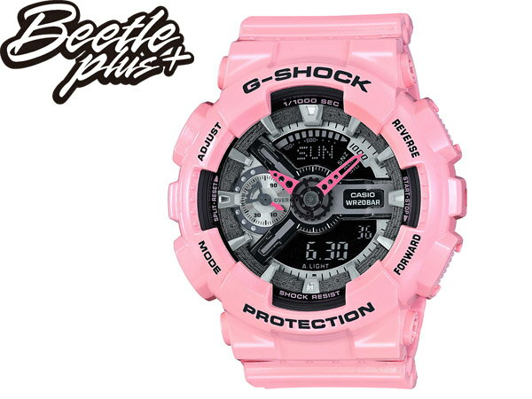 女生 BEETLE PLUS 全新 G-SHOCK WATCH GMA CASIO 淡粉 黑金 桃紅 電子錶 指針 手錶 GMA-S110MP-4A2CR 0