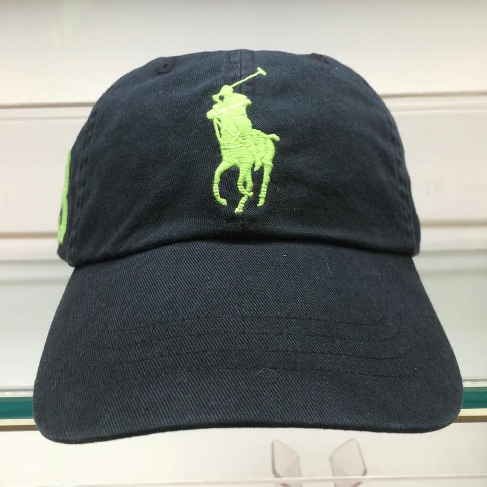 BEETLE POLO RALPH BASEBALL CAP 全黑 黑綠 馬球 LOGO 可調式 老帽 棒球帽 MN-386 0