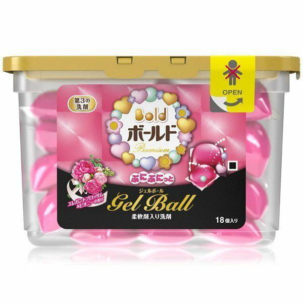 日本 P&G ARIEL GEL BALL 洗衣凝膠球 #花香 (粉) 18個入 盒裝 ☆真愛香水★ 另有衣物芳香顆粒