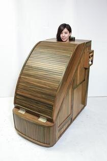 雅典木桶-綠檀木蒸氣烤箱 遠紅外線烤箱