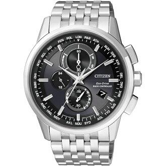 CITIZEN星辰AT8110-61E高科技品味電波光動能腕錶/黑面43mm