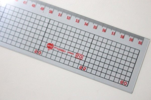 60cm直尺 應元 PASS 60cm透明方格直尺 MIT製/一支入{定50}