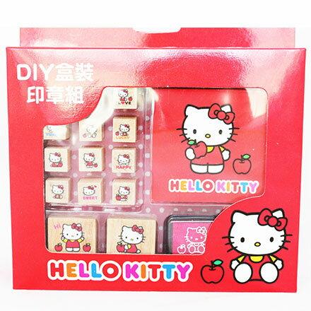 【敵富朗超巿】KITTY二代DIY盒裝印章組 1