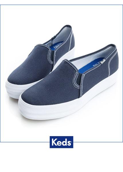 Keds 品牌經典厚底休閒便鞋(海軍藍) 0