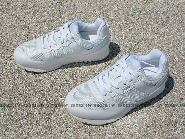 Shoestw【53M1SO63RW】PONY SOLA-V 復古慢跑鞋 內增高 全白 學生鞋 男生