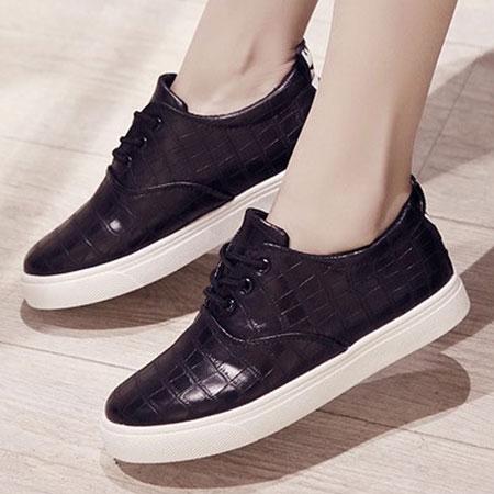 休閒鞋 韓版流行格紋皮革休閒鞋【S1559】☆雙兒網☆ 4