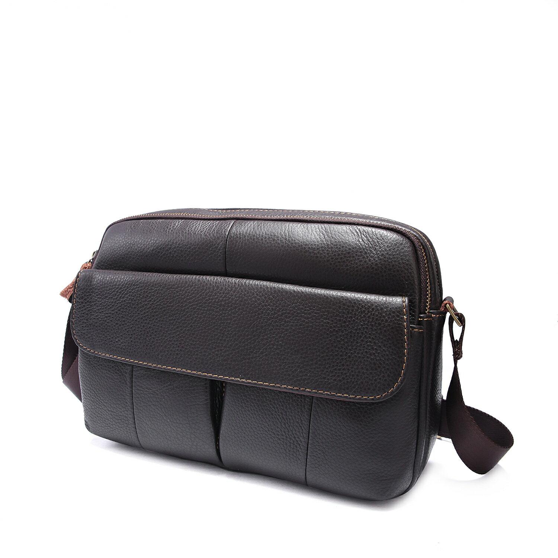 【BEIBAOBAO】韓版質感真皮側背包(共兩色  時尚黑) 3