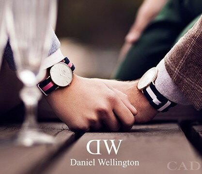 瑞典正品代購 Daniel Wellington 0503DW 玫瑰金 尼龍 帆布錶帶 女錶手錶腕錶 36MM 1