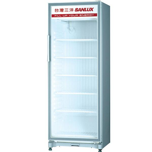 SANLUX 台灣三洋 SRM-305 直立式冷藏展示櫃(305L)★指定區域配送安裝★