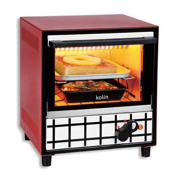 Kolin 歌林 (約5-6公升) 防燙抽取式烤網 時尚電烤箱 KBO-LN052 / 定時 美觀 獨特烤網