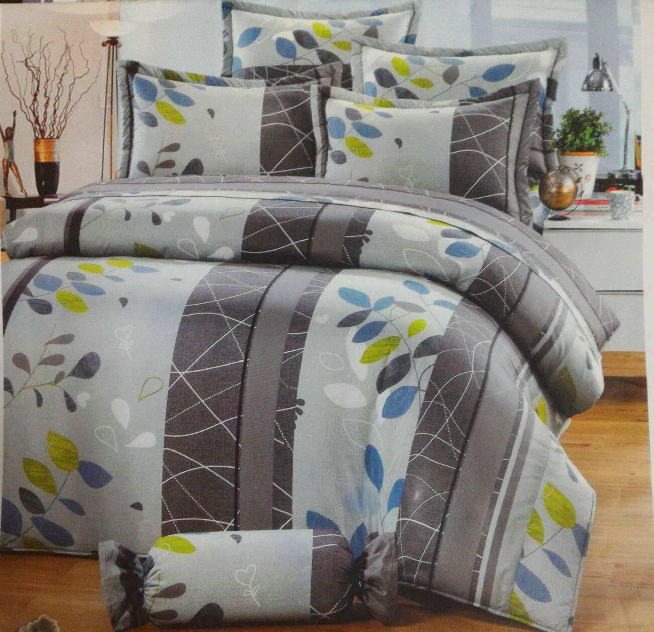 [床工坊]台製高級精梳棉 (單面花色床罩四件組)-無抱枕 - 限時優惠好康折扣