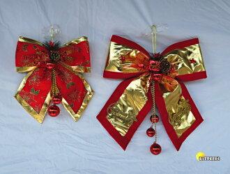 [橘子空間裝置藝術] 紅金聖誕大蝴蝶結吊飾 ~繽紛聖誕節飾品~☆聖誕樹.居家.店面.櫥窗.玄關.大廳擺飾.節慶派對佈置☆