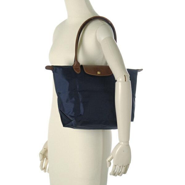 [2605-S號]國外Outlet代購正品 法國巴黎 Longchamp  長柄 購物袋防水尼龍手提肩背水餃包 海軍藍 3