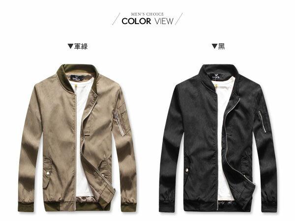 ☆BOY-2☆【OE50201】情侶韓版素面MA-1飛行夾克 1