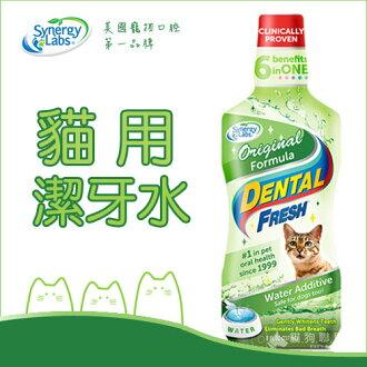 +貓狗樂園+ Synergy Labs【Dental Fresh貓用潔牙水。8oz】280元
