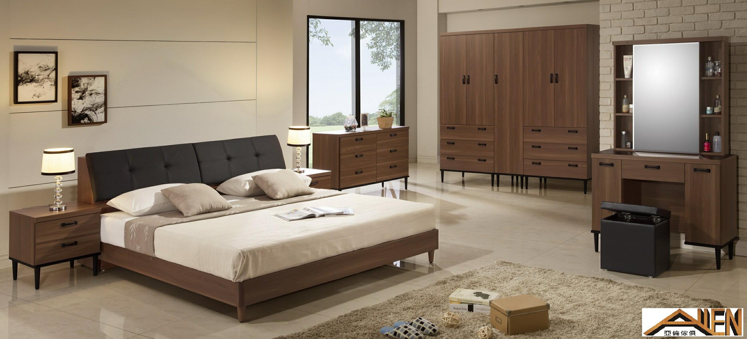 亞倫傢俱*亞當斯立體木紋床頭櫃 2