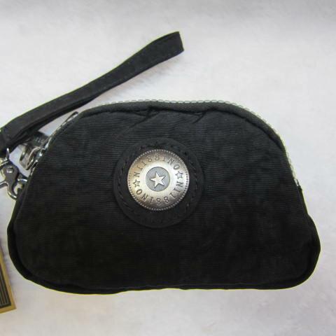 ~雪黛屋~18NINO81零錢包進口專櫃三層主袋設計進口超輕防水布可放信用卡萬用包小型輕巧方便置口袋好拿M35-038黑