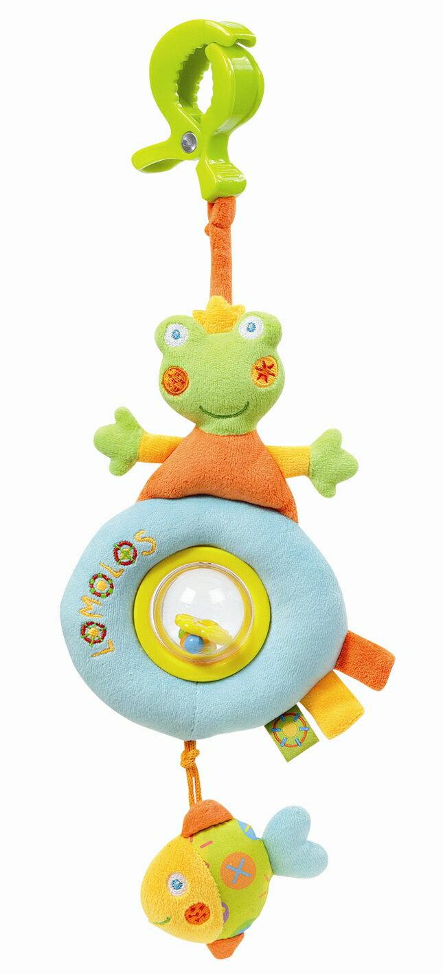 德國【BabyFEHN】繽紛蛙吊掛式布偶玩具 0