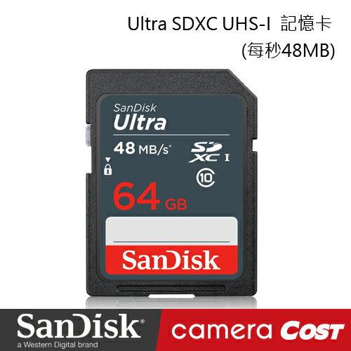 SanDisk Ultra SDHC UHS-I 64G 記憶卡 每秒 48MB 公司貨 7年保固 - 限時優惠好康折扣