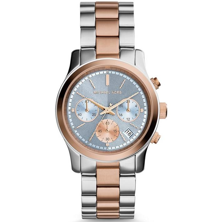 美國Outlet 正品代購 Michael Kors MK 三眼 雙色精鋼 滿鑽 手錶 腕錶 MK6166 3