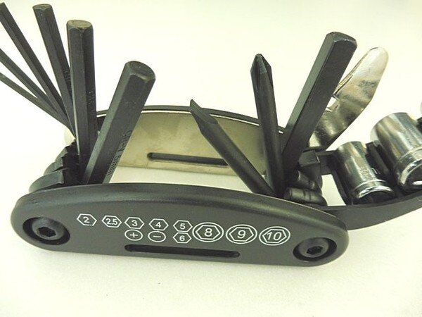 【強化版】CR-V材質 自行車修車工具 多功能隨身修車工具組單車修車工具內六角螺絲套筒板手折疊工具摺疊