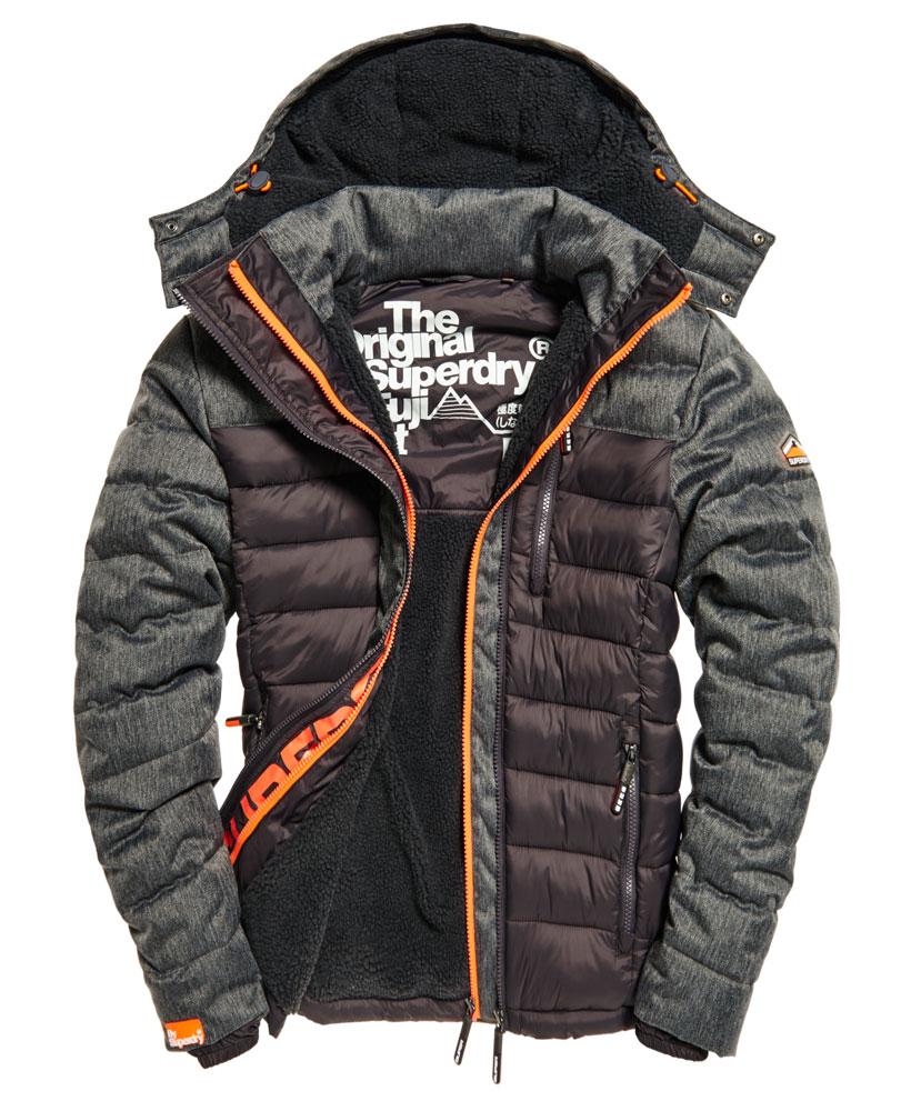 英國代購 極度乾燥 superdry Fuji MIX 男士保暖 拼接內鋪絨休閒雪地加厚夾克外套 灰色 0