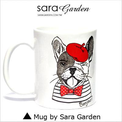 (24H) 客製 質感 彩繪 馬克杯 Mug 情侶 法國 文青 鬥牛犬 咖啡杯 陶瓷杯 杯子 Sara Garden手作【M0320027】