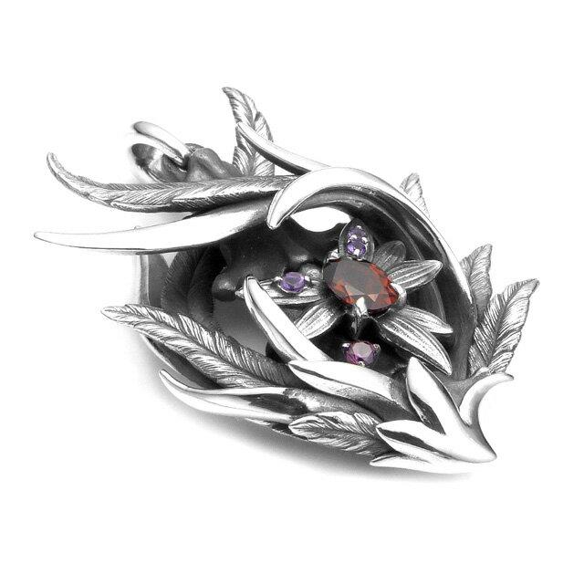 【絕版現貨】【Bloody Mary】Quanah光明之鳥寶石純銀墜飾 - 石榴石(BMP1296-GAPtr  0775600000) 2