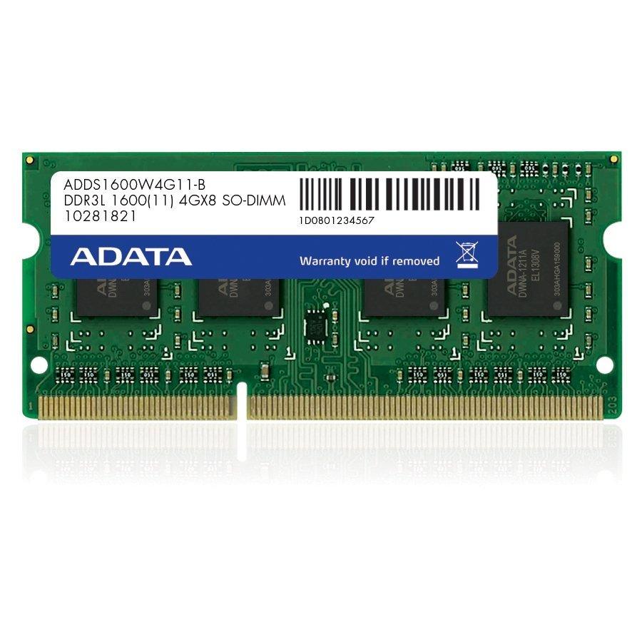 *╯新風尚潮流╭*威剛筆記型記憶體 4G DDR3-1600 穩定性高 終身保固 AD3S1600W4G11-R