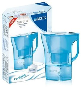 [淨園] 德國BRITA Navelia 2.3L 若薇亞型濾水壺(巡洋藍)【內含一支濾芯】-壺身配有水量刻度