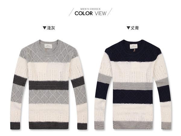 ☆BOY-2☆【PPK86026】情侶裝針織衫分色立體毛衣 1