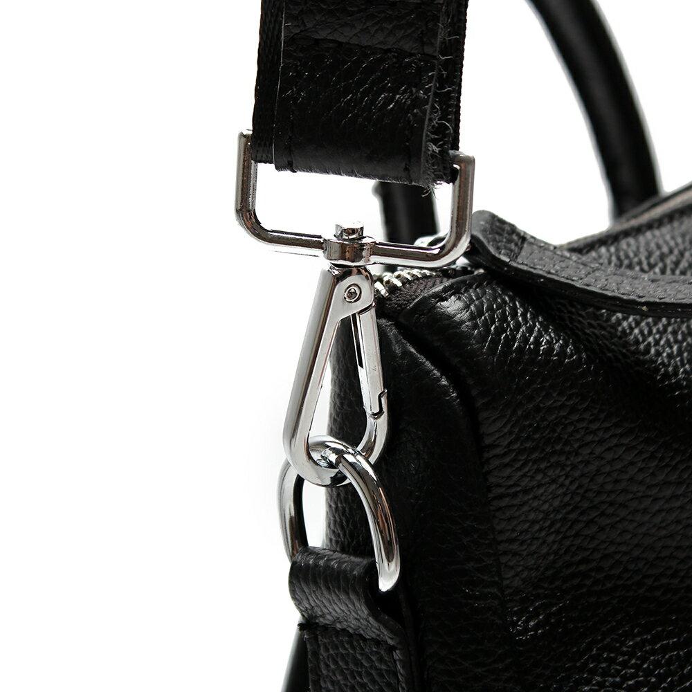 【BEIBAOBAO】韓劇同款時尚真皮後背包(時尚黑) 5